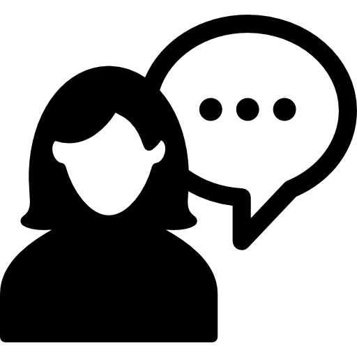 Female Silhouette Talking