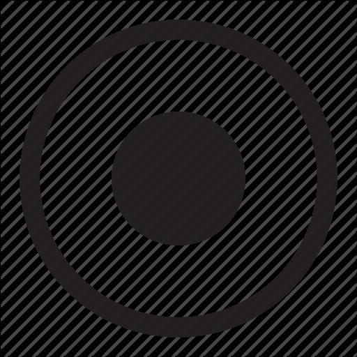 Bullseye, Button, Circles, Dot, Media, Record, Round Icon