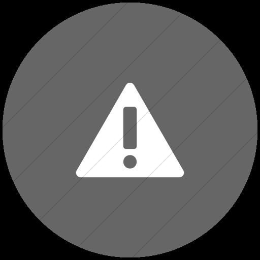 Flat Circle White On Gray Foundation Alert Icon