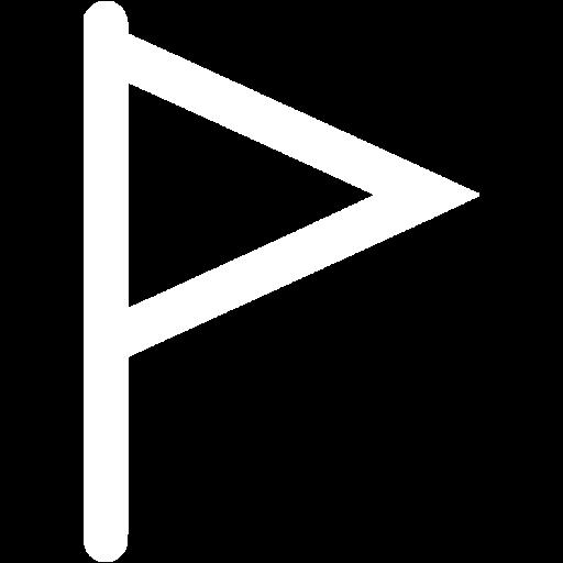 White Empty Flag Icon