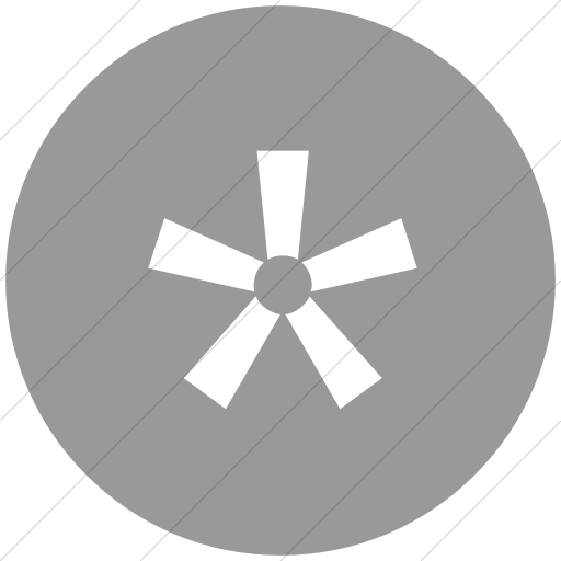 Flat Circle White On Light Gray Classica Asterisk Icon