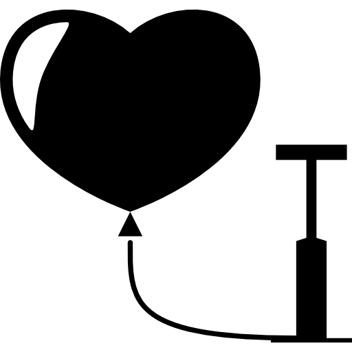 Heart Balloon Pump Icons Free Download