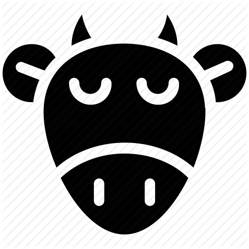 Animal, Bull Face, Cartoon, Cow Face, Ox Head Icon