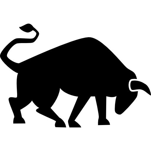 Strong Bull Side View Icons Free Download