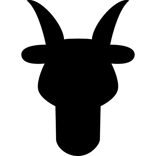 Aries Bull Head Front Shape Symbol Icons Free Download