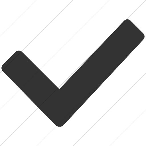 Simple Dark Gray Broccolidry Checkmark Icon