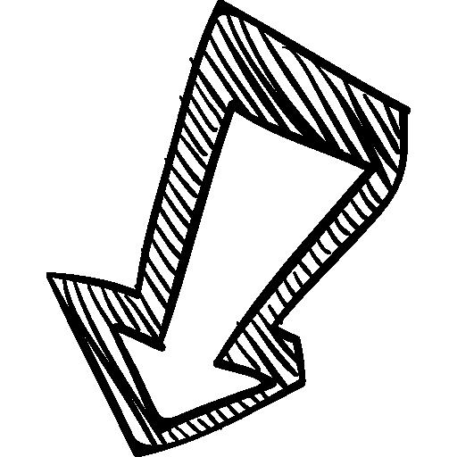 Down Arrow Sketch