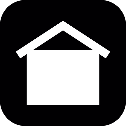 House On Square Black Background Icons Free Download