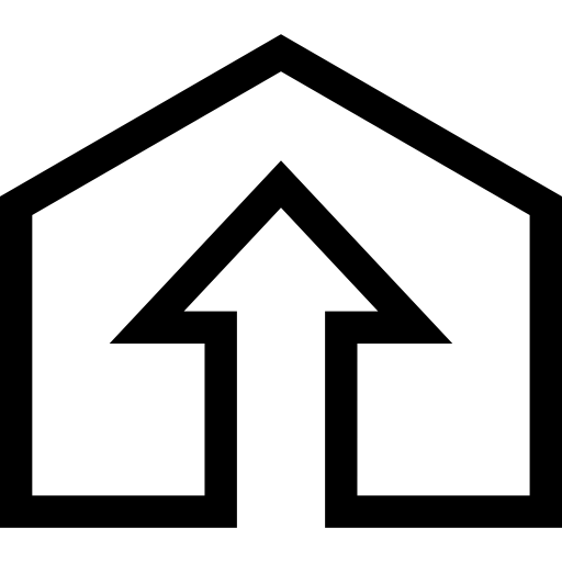 House With Up Arrow Inside Icons Free Download