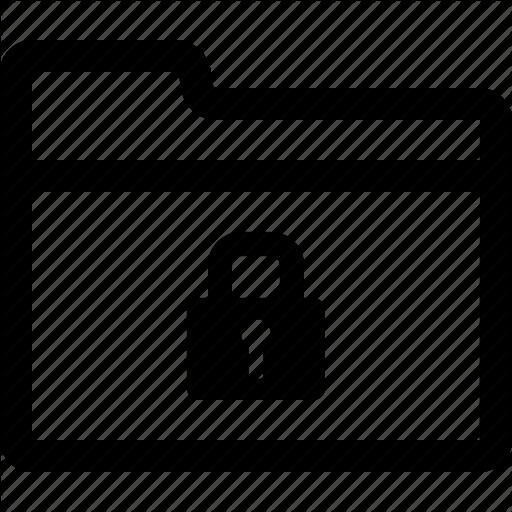 Encrypted, Encryption, File, Folder, Lock, Locked, Record Icon