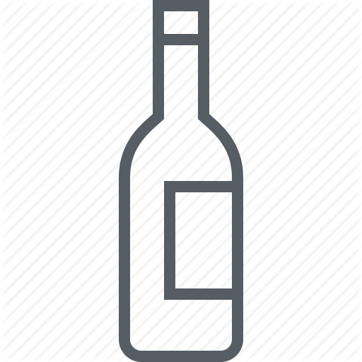 Bottle, Drink, Red, Rose, White, Wine Icon