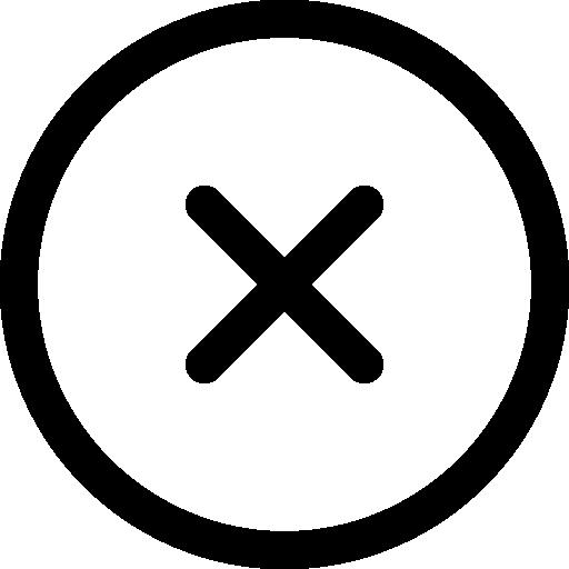 Round Delete Button Icons Free Download