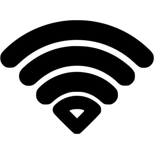 Black Wifi Icon