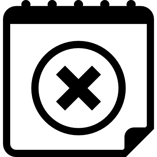 Delete Calendar Button Interface Symbol With A Cross Icons Free