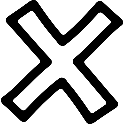 Delete Hand Drawn Cross Symbol Outline Icons Free Download