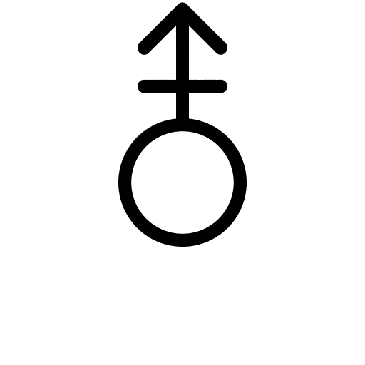 Androgyne, Intersex, Or Other Gender Symbol Made From Female