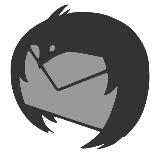 Monnochrome Thunderbird Dock Icon
