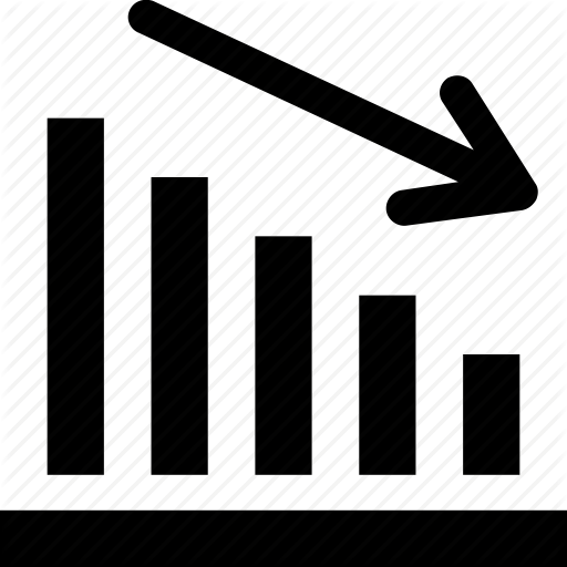 Business Loss, Descending, Graph, Loss, Reduction Icon