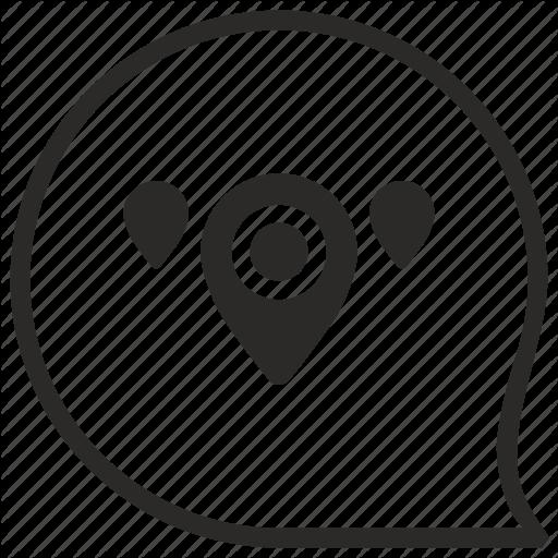 Comment, Geo, Map, Message, Pointer, Region Icon