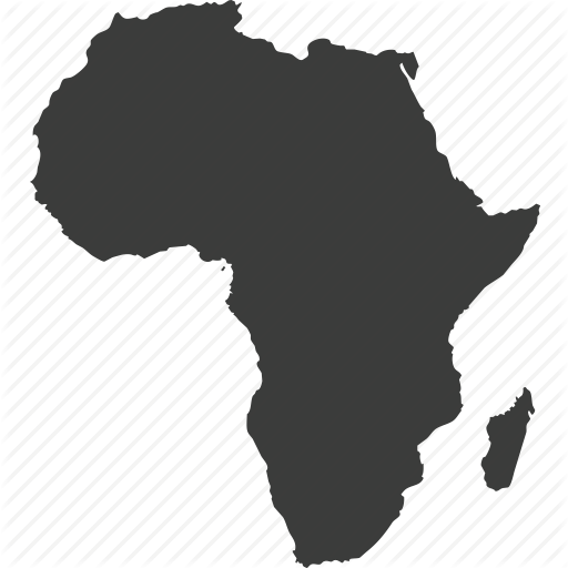 Africa Map Icon Campinglifestyle