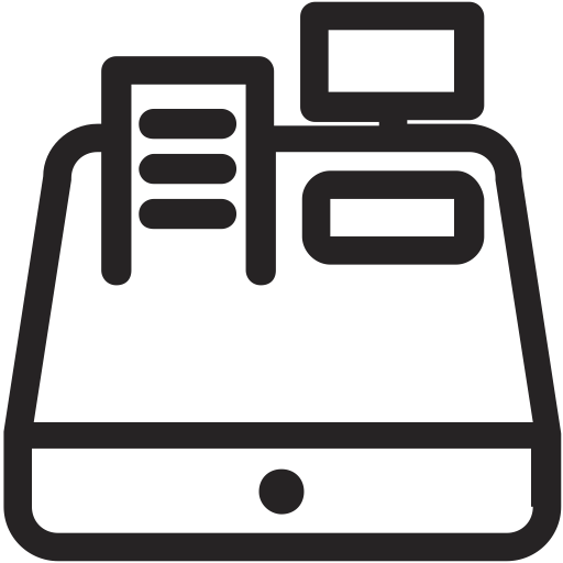 Cash Register Graphic Black And White Black And White Huge