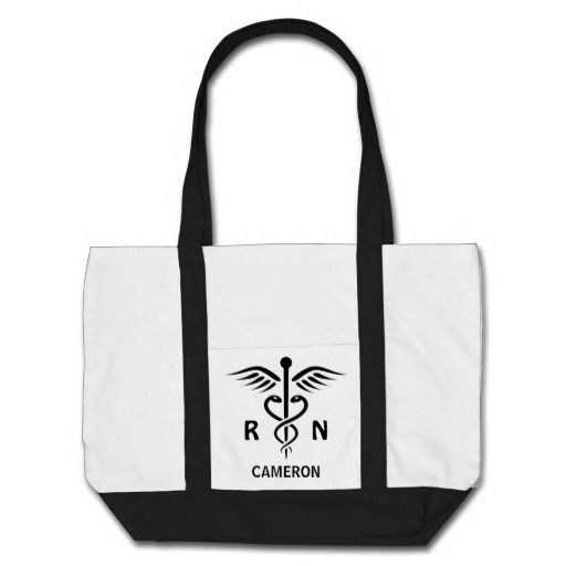 Registered Nurse Rn Caduceus Symbol Personalized Tote Bag Nurse