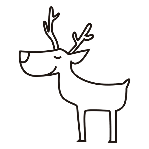 Reindeer Standing Stroke Icon