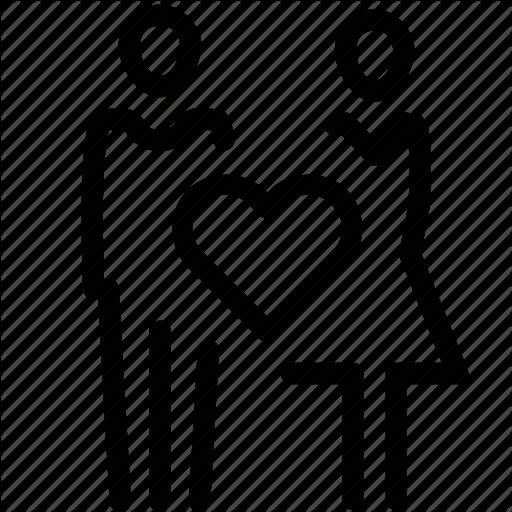 Couple, Love, Marriage, Relationship, Romantic, Valentine Icon