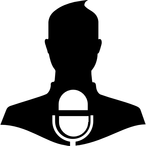 Press Release Symbol Of A Man With A Microphone Icons Free Download