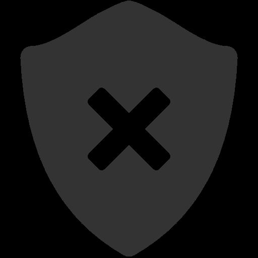 Delete, Shield Icon