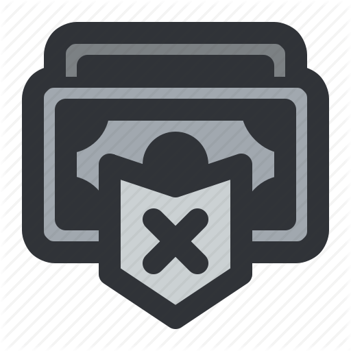 Currency, Money, Payment, Remove, Shield Icon
