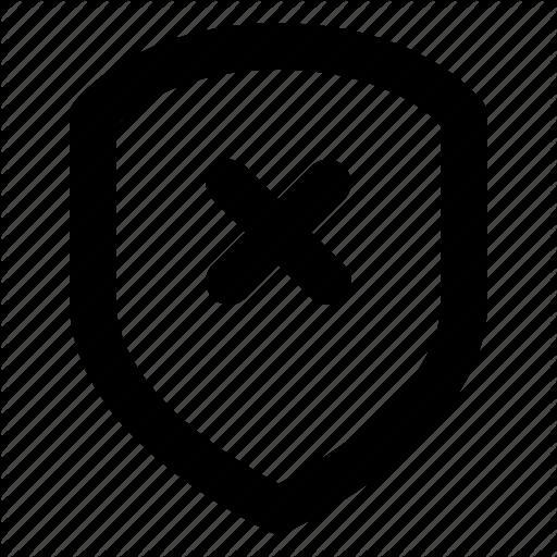 Defense, Protection, Remove, Security, Shield Icon