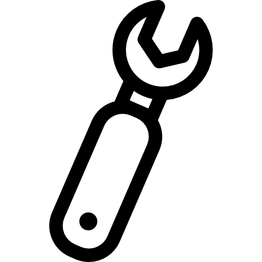Spanner Settings Button Icons Free Download