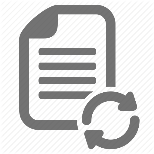 Arrow, Data, Document, File, Replace, Switch, Sync Icon