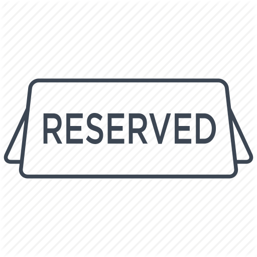 Food, Meal, Reserve, Reserved, Restaurant, Seat, Table Icon