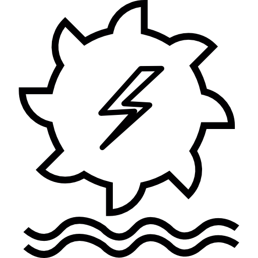 Hydro Power Generation Icons Free Download