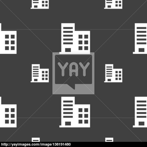 High Rise Commercial Buildings And Residential Apartments Icon