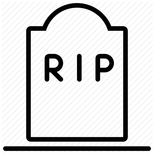 Cemetery, Grave, Graveyard, Rest In Peace, Rip, Tomb, Tombstone Icon