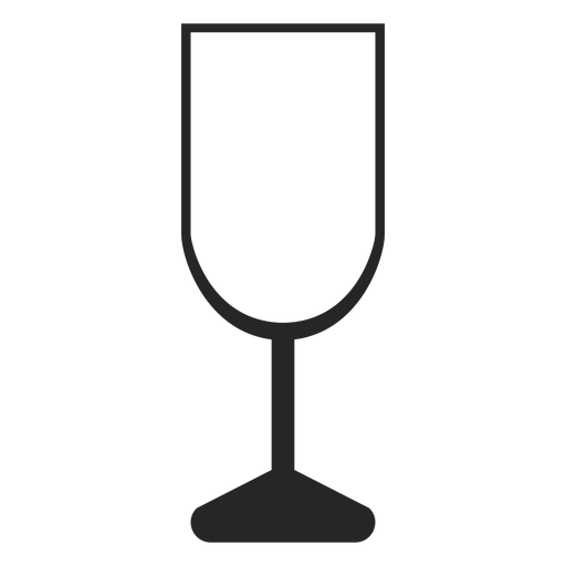 Champagne Glass Flat Icon Restaurant Icons
