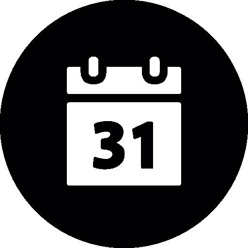 Calendar Round Icons Gratuitment