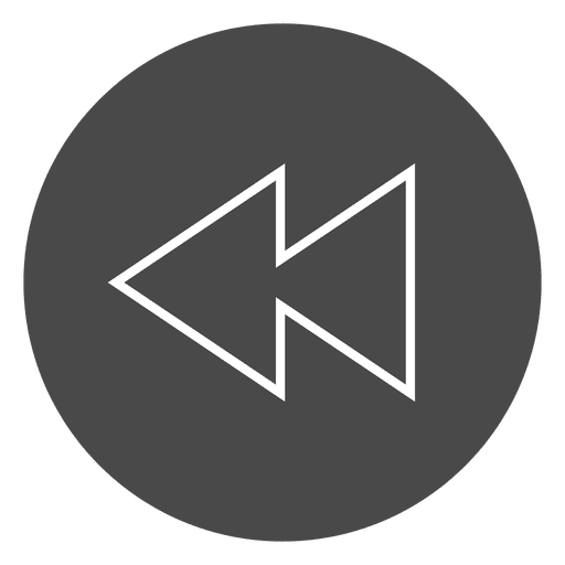 Rewind Button Circle Icon