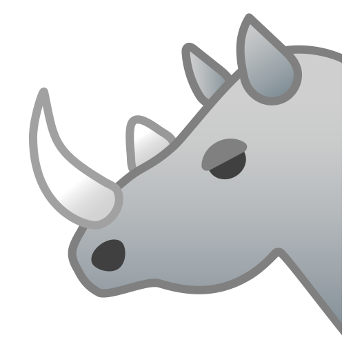 Rhinoceros Icon Noto Emoji Animals Nature Iconset Google