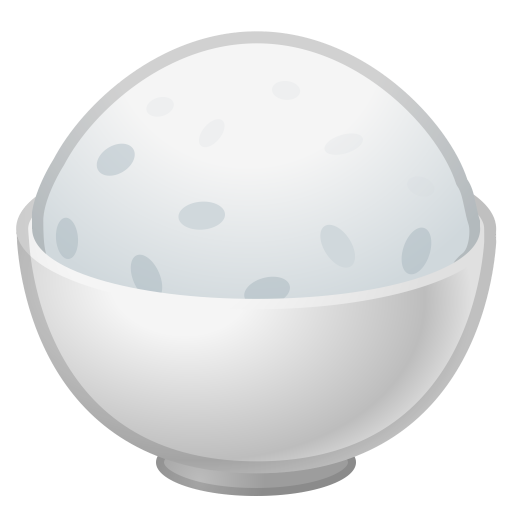 Cooked Rice Icon Noto Emoji Food Drink Iconset Google