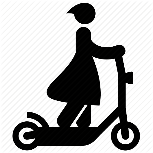 Electric Scooter, Electric Transport, Girl, Riding, Scooter