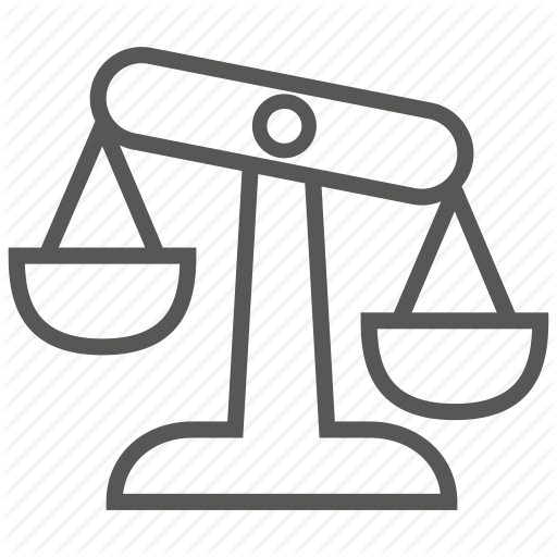 Balance, Evaluation, Justice, Law, Risk Icon