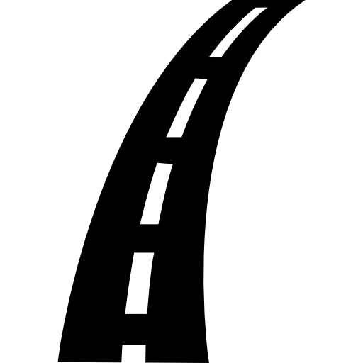 Road Slight Curve Icons Free Download