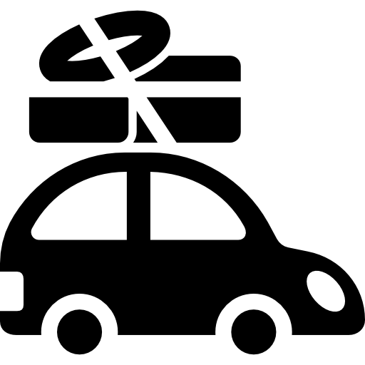Car With Luggage On The Roof Rack Icons Free Download
