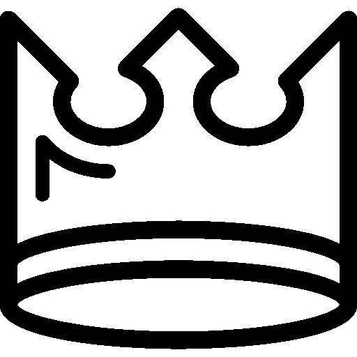 Couronne Royale D'un Prince Ou Une Princesse Reine Roi