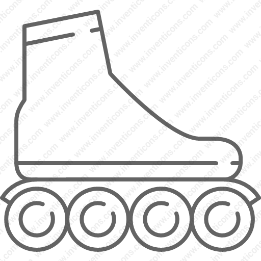 Download Roller,skate,roller,skating Icon Inventicons