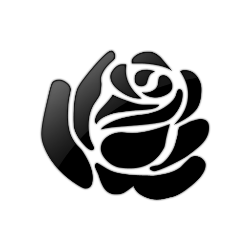 Rose Clipart Black And White